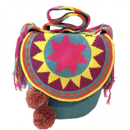 Mochila Wayuu con Tapa